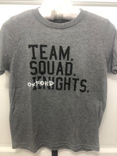 Gray Short Sleeve Team Squad Knights